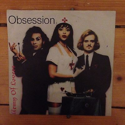 "Army Of Lovers ‎– Obsession - 7"" Vinyl Schallplatte 1991"