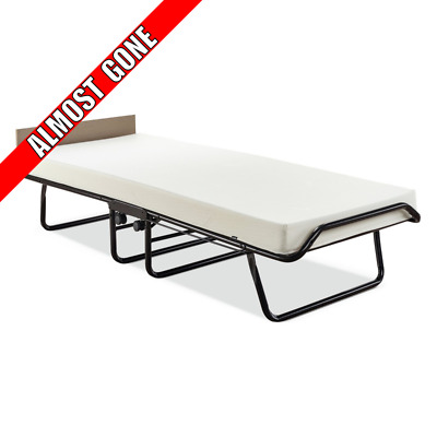 Jay Be Single Folding Guest Bed With Fold Mattress Metal Steel Frame