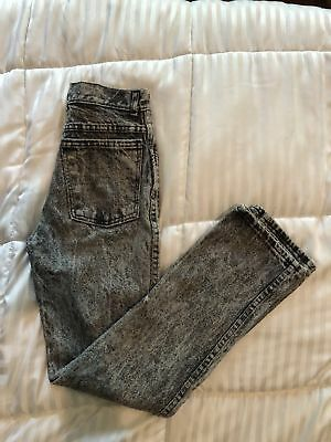 Vintage Kids Youth Acid Wash Jeans 80s Size 14 Slim Style K470S