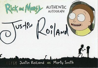Rick and Morty Season One , Justin Roiland Autograph Card JR-M #05/50