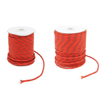 1 Roll Reflective Nylon Cord Tent Canopy Guyline Rope Packaging Line Camping