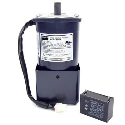 1/8 HP Speed Control PSC Motor - 220VAC, TEFC, 1650 RPM, 1 Phase