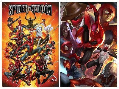 Spider-Geddon #1 Cover A & In-Hyuck Lee Connecting Variant Set Pre-Sale 2018