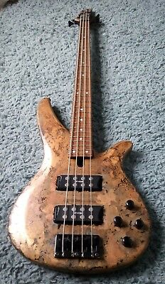 085202b47e Custom aged relic copper Yamaha RBX374 4 String Bass Guitar with Active  Pickups