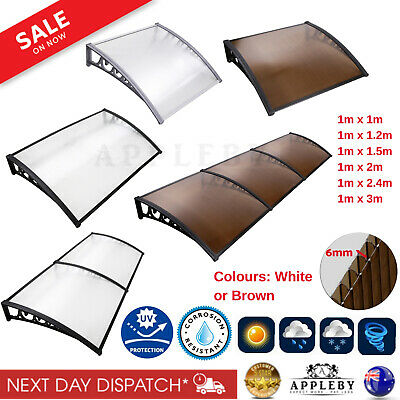 Home Window Awning Canopy Outdoor Front Cover House Shade 1mx3m 1mx2m