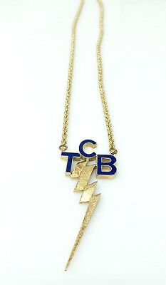Elvis Presley Supposedly Owned 14k Yellow Gold TCB Necklace Can not Authenticate