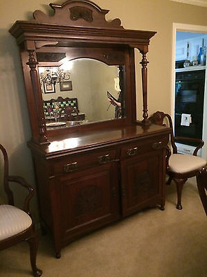 Antique Sideboard/Buffet with Original Mirror