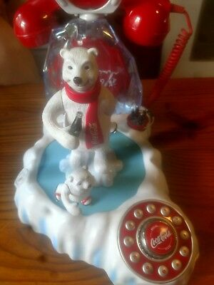Coca Cola Animated Musical Polar Bear Telephone