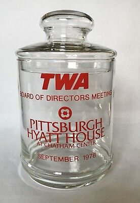 TWA Trans World Airlines Board Of Directors Meeting Pittsburgh Tobacco/Candy Jar