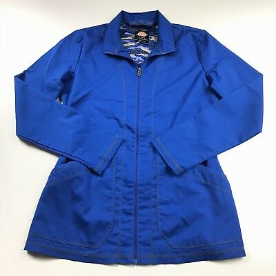 Dickies Womens Scrub Jacket Essence Zip Front Warm Up Coat DK302 Size XS