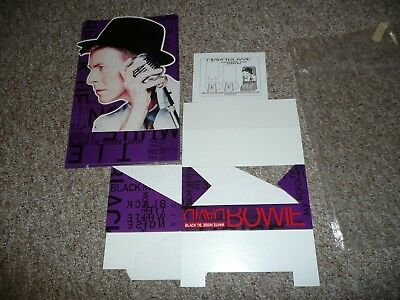 DAVID BOWIE Counter Top Display Standee Black Tie White Noise CD Cassette not LP