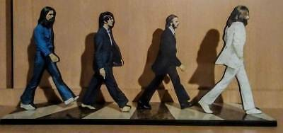 "THE BEATLES Abbey Road DISPLAY 6"" STANDEE Figure Statue Cutout Toy Standup cd lp"