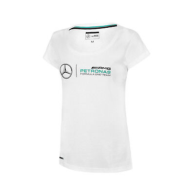 Damen-Logo-T-Shirt Weiß Mercedes AMG Petronas F1 Team FAN M