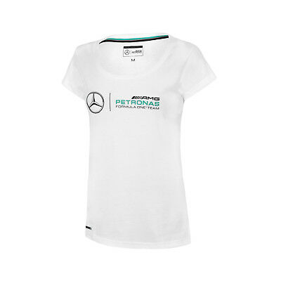 Damen-Logo-T-Shirt Weiß Mercedes AMG Petronas F1 Team FAN L