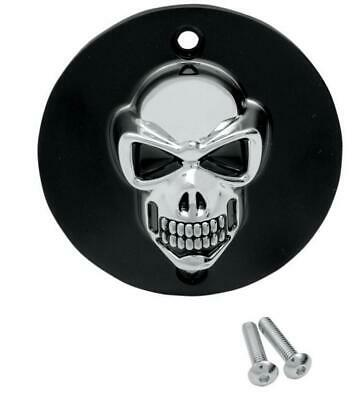 3-D Skull Points Cover Chrome Skull Harley 1999-2014 Twin Cam