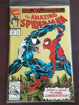 The Amazing Spider-Man #375 Marvel Venom vs Spider-Man Cover Mint Unread