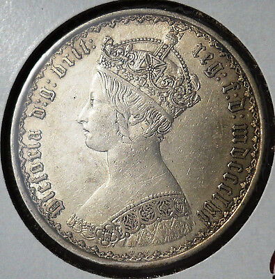 1856 gothic florin, .925 silver S-3891