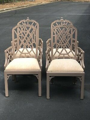 Mid century pagoda  Chinese Chippendale chairs - Set Of 4