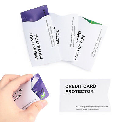 Anti Theft Credit Card Protector RFID Blocking Aluminum Safety Sleeve Shield