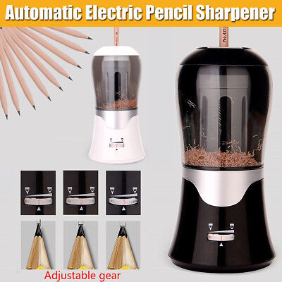 Automatic Electric Pencil Sharpener Cutter Home Office School For 6.5-11mm Pen