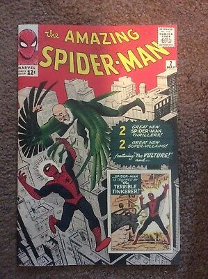 Amazing Spiderman 2 Custom Made Cover with 1990's Reprint 1st Vulture REPRINT