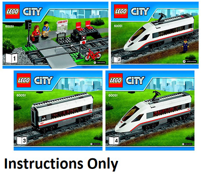 Lego TRAIN Instructions Manuals Books Only 60051  NEW