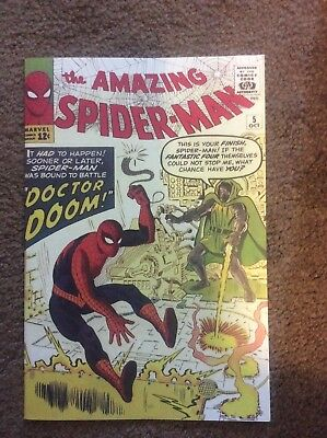 Amazing Spiderman 5 Custom Made Cover with 1990's Reprint Doctor Doom REPRINT