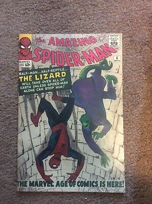 Amazing Spiderman 6 Custom Made Cover with 1990's Reprint 1st Lizard REPRINT
