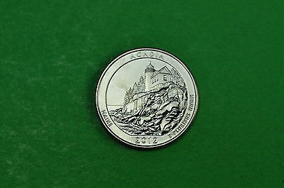 2012-D  BU Mint State (ACADIA) US National Park Quarter