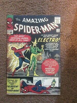 Amazing Spiderman 9 Custom Made Cover with 1990's 1st Electro Reprint