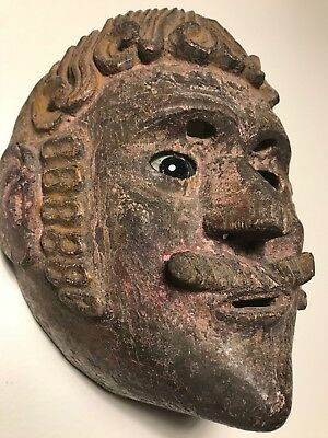 Antique, Ceremonial, Danced, Ethnographic, Guatemalan Conquistador Mask. PATINA!