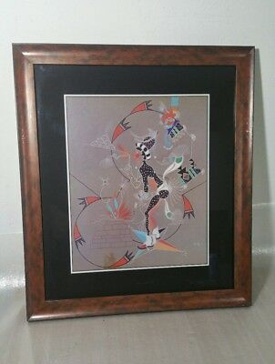 J. Michael Standing Bear - Framed Original Limited Print - (Sioux, Pueblo)