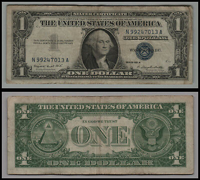 1957A United States $1 Silver Certificate Note Circulated V265