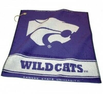 Team Golf 21880 Kansas State University Woven Golf Towel. Delivery is Free