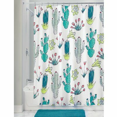 InterDesign Fabric Polyester Shower Curtain 72 X Green Multi