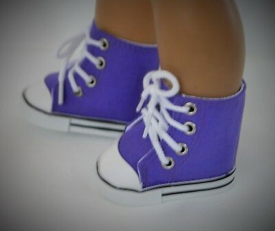 """Sneakers Purple for 15"""" Bitty Baby Twin or 18"""" Boy AG Doll Accessories Clothes"""