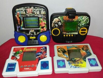 Lot of 4 Vintage Tiger Electronic Hand Held Games All working football wwf Congo