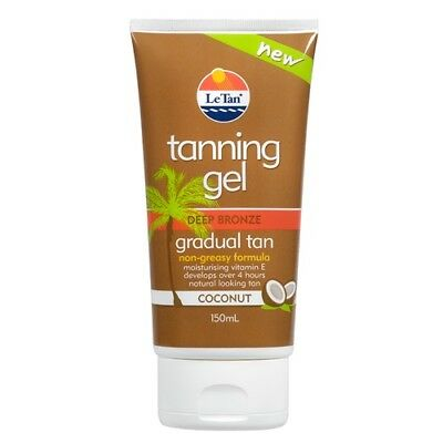 Le Tan Tanning Gel Deep Bronze Gradual Tan Coconut 150Ml Non-Greasy Formula