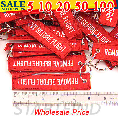 5/10/20pcs Fabric Key Ring Remove Before Flight Keychain Pilot Bag Tag Luggage