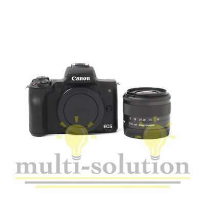 Véritable Canon EOS M50 Mirrorless Digital Camera with 15-45mm Lens (Black)