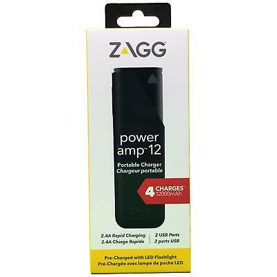 ZAGG Power Amp 12 Universal Portable Battery Charger Flashlight for Smartphones
