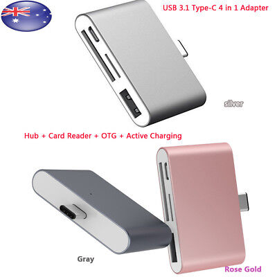 Type-C 4 in 1 USB C to USB3.1 Hub SD/ Micro SD Card Reader Adapter For MacBook
