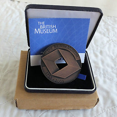 2003 ROYAL MINT BRITISH MUSEUM 63mm BRONZE MEDAL - boxed/coa - mintage 250
