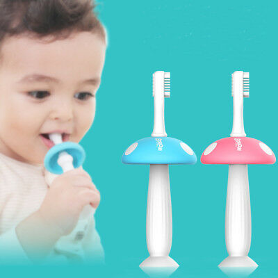 Silicone Mushroom Toothbrush Baby Teether Training Soft Toothbrushes Oral Care