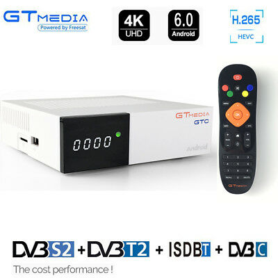 4K RECEPTOR ANDROID Tv Box Cable DVB-S2 ISDB-T DVB-T2 Youtube