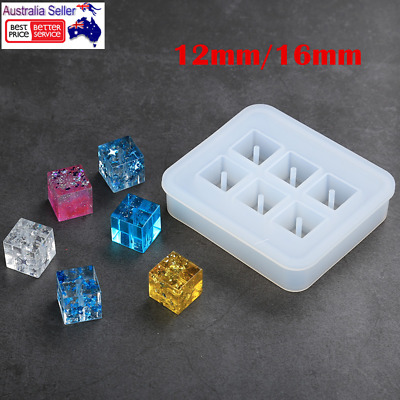 DIY Silicone Gem Beads Moulds Mold Resin Jewellery Making Pendant Craft 12/16MM