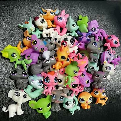 Random Pick Different Lot 10 Pcs Littlest pet shop Dolls Children LPS Figure Toy