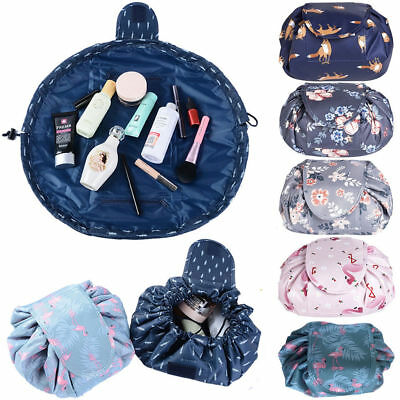 Portable Travel Makeup Toiletry Case Wash Organizer Storage Pouch Drawstring Bag