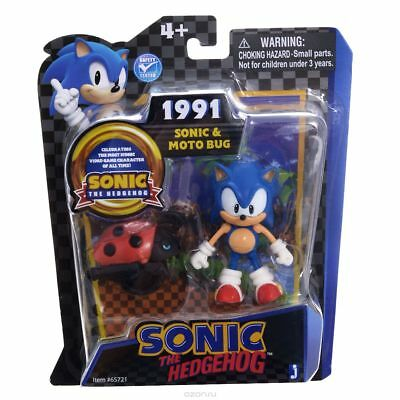 Sonic The Hedgehog Sonic & Moto Bag Figure New Rare