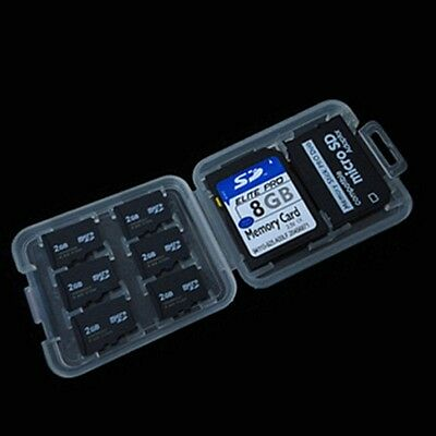 1*Memory Card Storage Case Holder with 8 Slots for SD SDHC MMC MicroSD Card